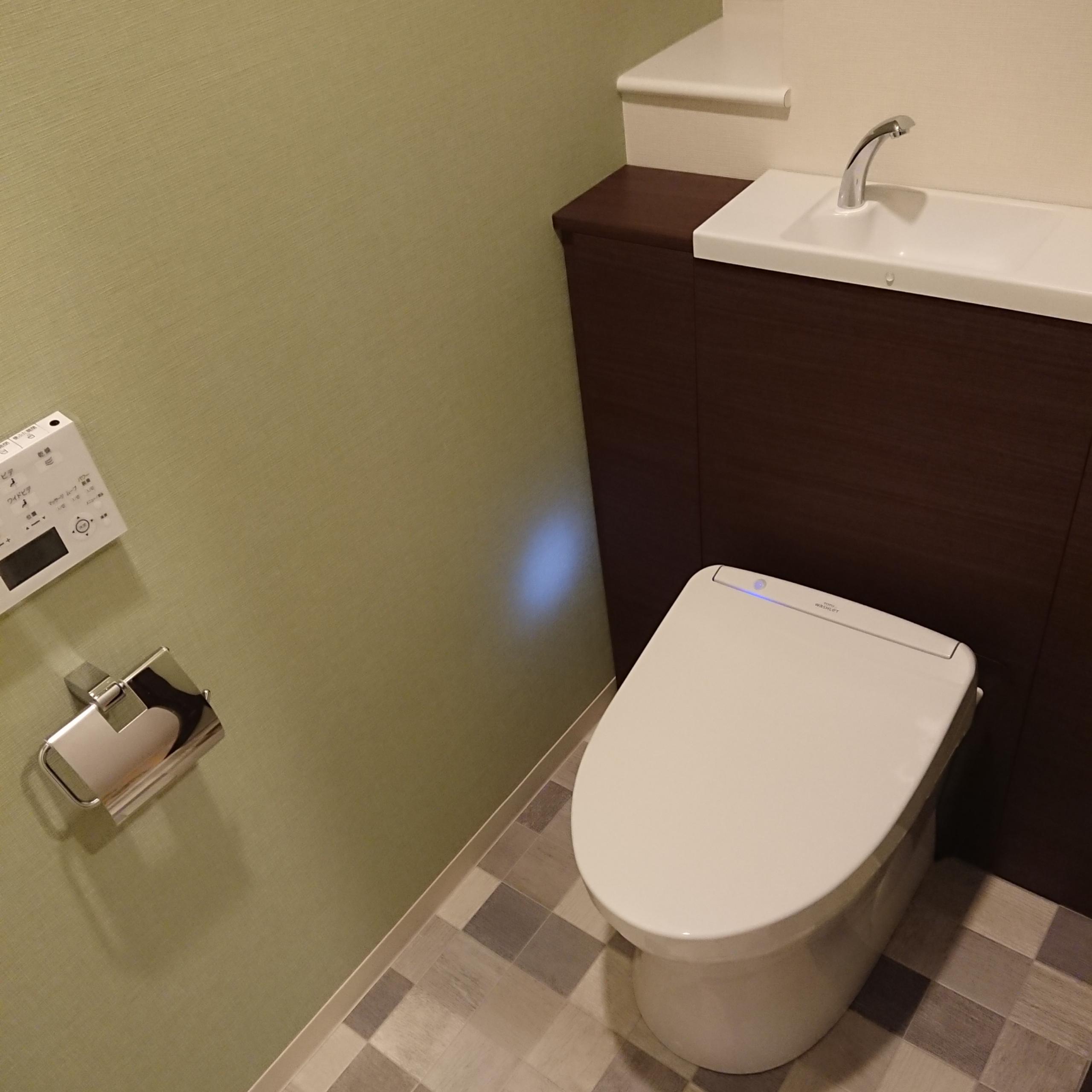 マンション<br> トイレのリフォーム<br>TOTO レストパルの画像