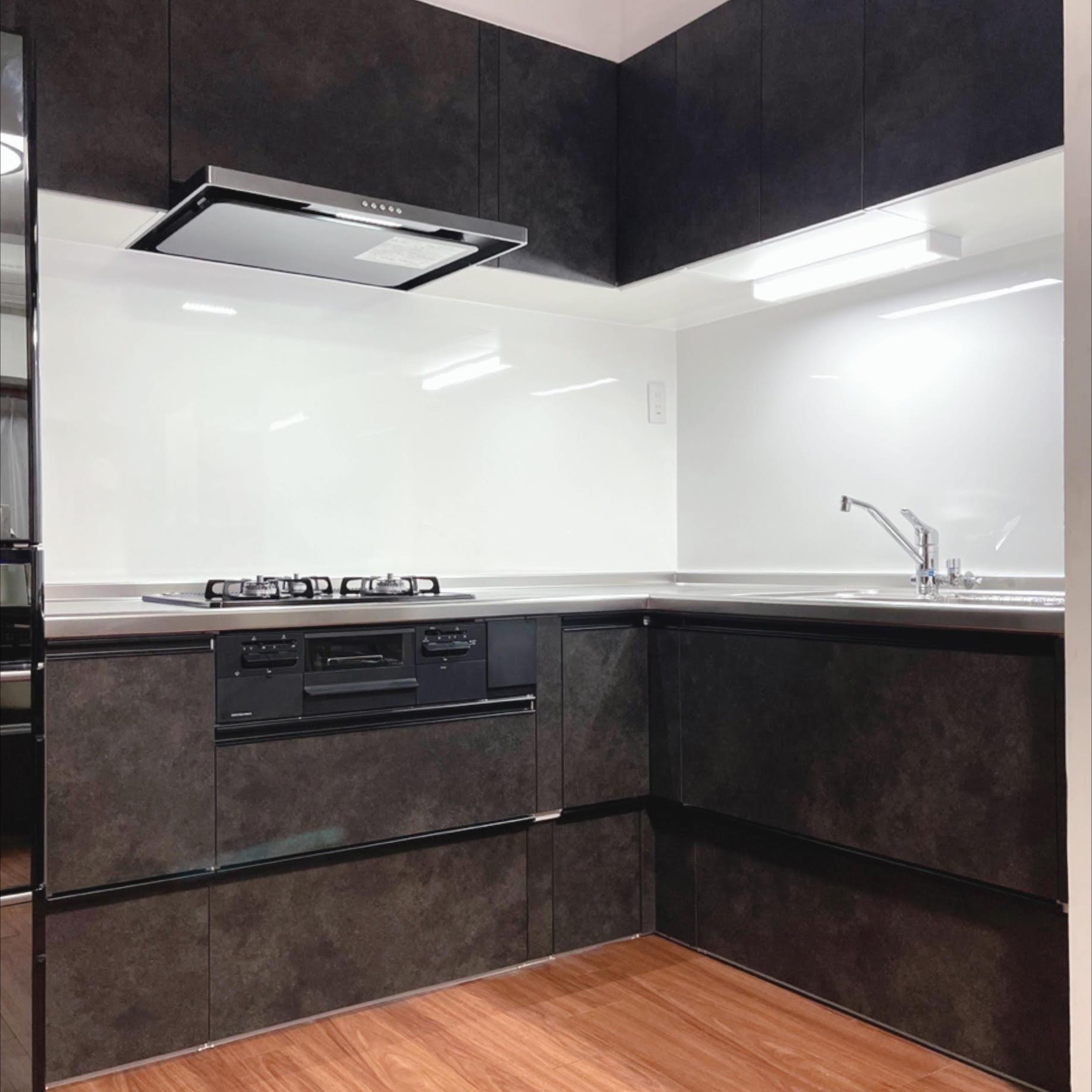 戸建て キッチンリフォーム クリナップ ラクエラの画像